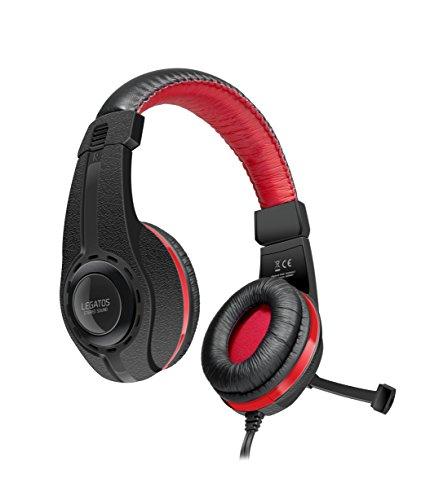 Speedlink LEGATOS Stereo Gaming Headset - Kabelfernbedienung - einklappbares Mikrofon, angenehmer Tragekomfort für PC/Notebook/Laptop, schwarz