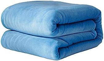 TITIROBA 毛布 ひざ掛け ブランケット マイクロファイバー 厚手 暖かい ふわふわ 洗える 静電気防止 抗菌防臭 無地 かわいい おしゃれ
