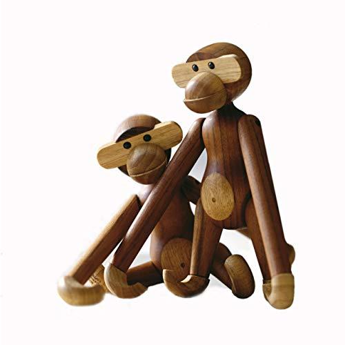 Kay Bojesen Holzfigur, Holz, Braun, 7 x 7 cm