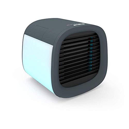 Evapolar evaCHILL - Ventilador de refrigeración portátil y personal, para el hogar y la oficina, con conectividad USB y luz LED integrada, color gris urbano