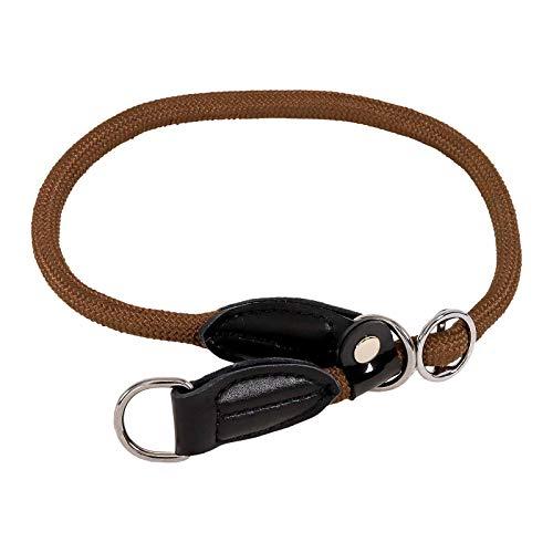 lionto by dibea Hundehalsband Retrieverhalsband Dressurhalsband Länge 60 cm Ø 1 cm Braun