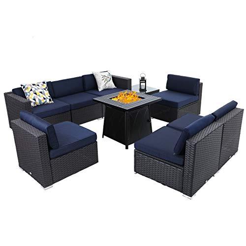 Sophia & William Patio Furniture Sectional Sofa Set with Gas...