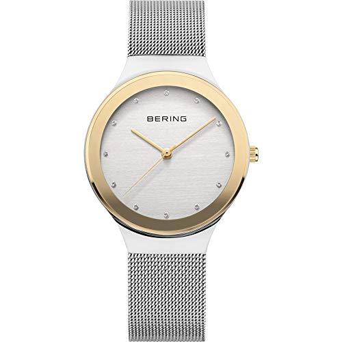 BERING Reloj Analógico para Mujer de Cuarzo con Correa en Acero Inoxidable 12934-010