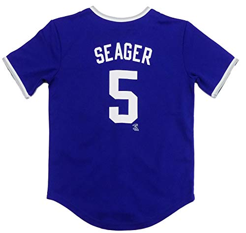 Corey Seager Los Angeles Dodgers Blue Youth Player Stripe Fashion Jersey (X-Small 4/5)