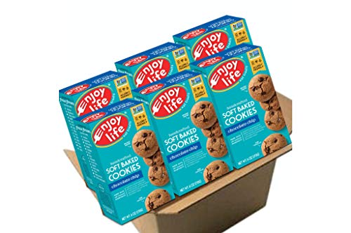 Enjoy Life Soft Baked Cookies Soy free Nut free Gluten free Dairy free Non GMO Vegan Chocolate Chip 6 Boxes