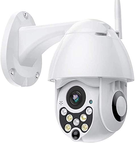 Outdoor PTZ WiFi Security Camera, 1080P Pan Tilt Surveillance IP Weatherproof Camera with Two Way Audio Night Vision Motion Detection