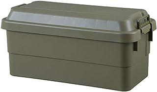 トランクカーゴ 70L 収納ケース 収納ボックス オリーブ グリーン ミリタリー調 シンプル フタ付き 蓋付き