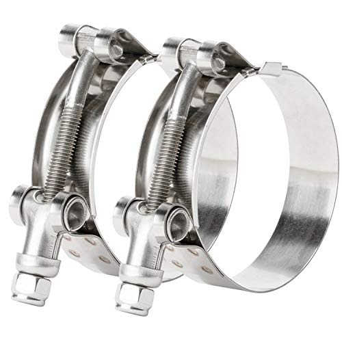 ISPINNER 2 Pack 1-3/16 Inch Stainless Steel T-Bolt Hose...
