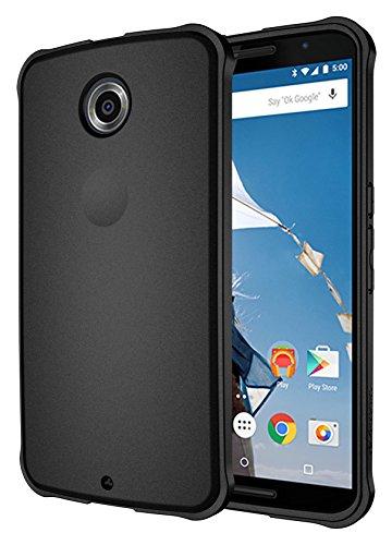 Nexus 6 Case, Diztronic Ultra TPU Case for Motorola Nexus 6 - Full Matte Black - (NX6-VOY-BLK)