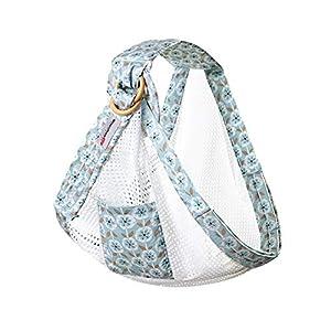 WANGSCANIS Cómoda bolsa de lactancia Cesta de envoltura con correa extensible artificial con anillo de anillo resistente para literas infantiles (azul, talla única)