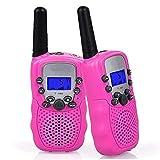 sjqc9561 2ST Upgrow Walkie-Talkies 8-Kanal-2-Wege-Radio Kinder Spielzeug Wireless-0,5W PMR446 Fernbereich Walkie Talkie für Feld Überleben Radfahren und Wandern (Pink)