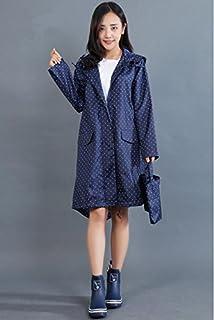 BQuel レディース レインコート トレンチ 女性用 雨具 通学 通勤 撥水加工 防水 コート おしゃれ