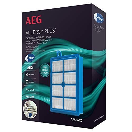 AEG AFS1WCC, s-Filter Philips s-Bag Sauger, für UltraOne,UltraSilencer, VX6, VX6-2,VX7, VX7-2, LX7, LX7-2,VX8, VX8-2, VX9-öko, VX9-2, LX8, LX8-2, LX9, blau