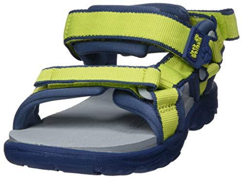 Jack Wolfskin Unisex-Kinder Seven SEAS 3 K Sport Sandalen, Grün (Lime/Blue 4171), 37 EU