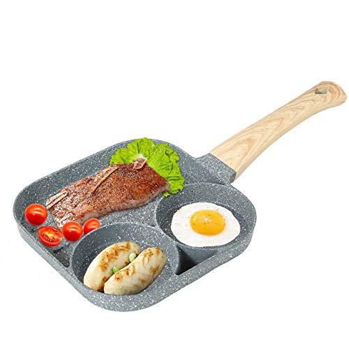 Antihaft-Pfanne Steak Spiegelei Wurst Bratpfanne Mini Pfannkuchen Pfanne Gusseisen Pfanne Omelettpfanne Bratpfanne (Bratpfanne)