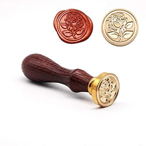 Retro houten stempel antieke metalen zegel stempels houten handvat huwelijksuitnodigingen zegel stempel ambachtelijke zegel stempel, E1