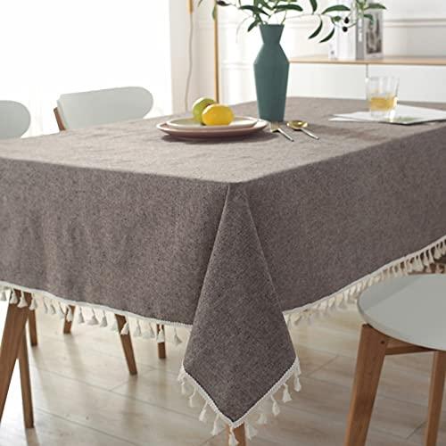 YDyun Transpirable, Aislamiento Térmico, Restaurante,Cocina, Cafetería, Mantel de Jardín Borlas de algodón y Lino