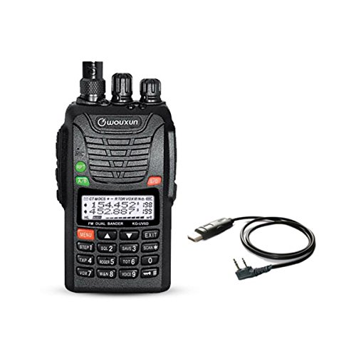 WOUXUN KG-UV6D 4m/2m 66-88/136-174MHz Tragbares BOS Tonruf-I Amateurfunk Dualband PMR-Handfunkgerät Mit USB Programmier-Kabel Datenkabel