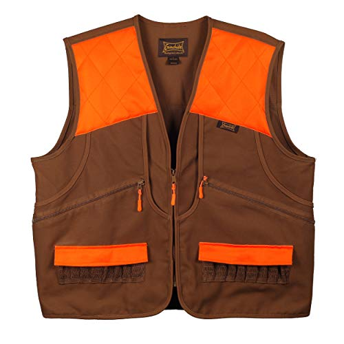 Gamehide Switchback Upland Field Bird Vest (Marsh Brown/Orange, 2X-Large)