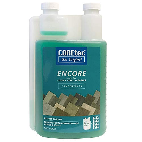 COREtec ENCORE 03Z78 Floor Cleaner Care for Luxury Vinyl Flooring Concentrate 32 oz (Refills 16x)
