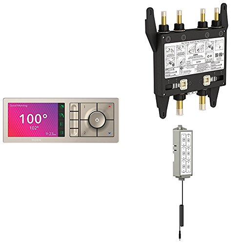 U Shower by Moen Smart Home Connected Bundle for 4 Outlet, Complete with Digital Controller, Valve and Backup Battery Kit