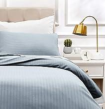 Amazon Basics - Juego de ropa de cama con funda nórdica de microfibra y 1 funda de almohada - 135 x 200 cm, gris scuro