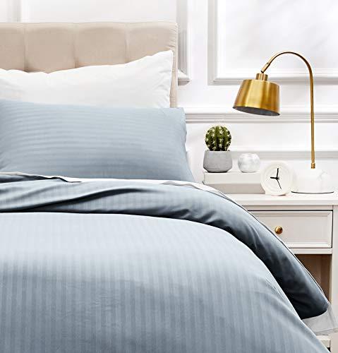 AmazonBasics - Juego de ropa de cama con funda nórdica de microfibra y 1 funda de almohada - 135 x 200 cm, gris scuro