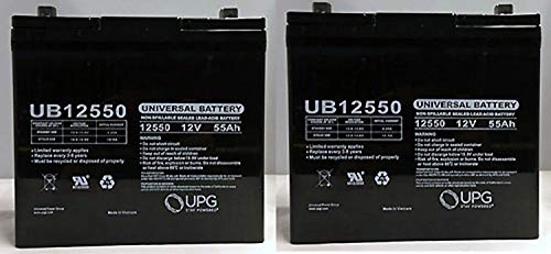 Universal Power Group UB12550 12V 55Ah Scooter Wheelchair Mobility Deep Cycle SLA AGM Battery - 2 Pack