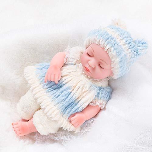 11,81 Zoll waschbare weiche Babypuppe mit Babypuppenzubehör für Badewanne/Dusche/Schwimmbad Zeitspiel lebensechte ursprüngliche neugeborene Puppe Silikonpuppe handgemachtes realistisches für Kinde