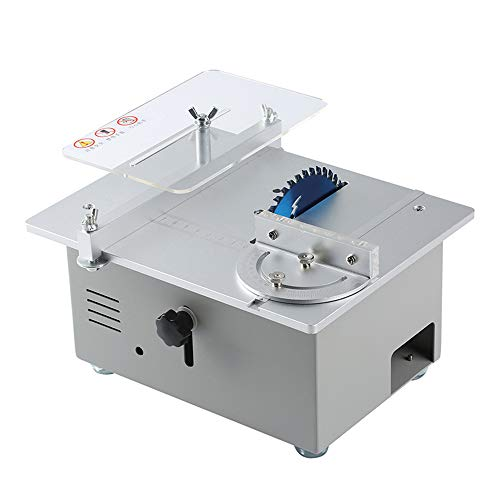 Tischkreissäge, multifunktionale elektrische Mini-Tischkreissäge 895 Spindelmotor DC12V-24V Hubsägeblatt Holzbearbeitungsbank Holzschneidetischsäge