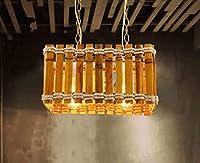 JPL Novelly装飾シャンデリア、アメリカンスタイルのレトロな麻ロープシャンデリア/レストランカフェシャンデリア