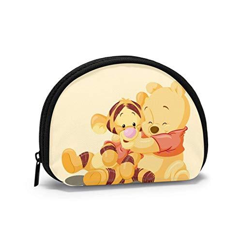 Bolsa de almacenamiento de concha de dibujos animados para mujeres y niñas linda moda con cremallera monedero monedero monedero bolsa de cambio multifunción bolsa organizador