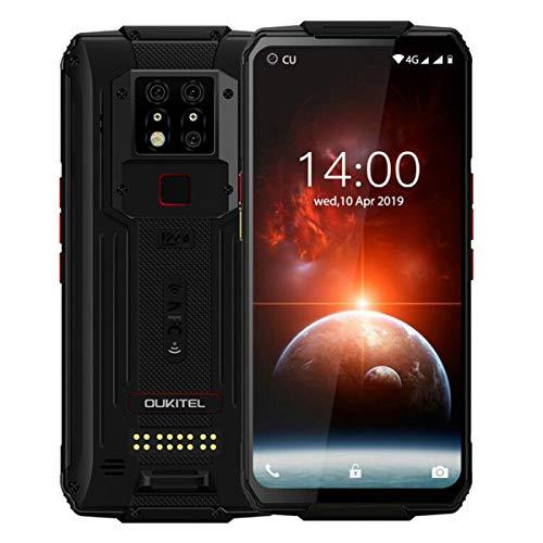 OUKITEL WP7 Outdoor Handy Ohne Vertrag,6,53'' FHD+ Helio P90 6GB 128GB Rubust Smartphone,48MP Hintere DREI Kameras+8MP IR Nachtsichtkamera,8000mAh Akku Android 10.0 Outdoor Smartphones,NFC, Schwarz