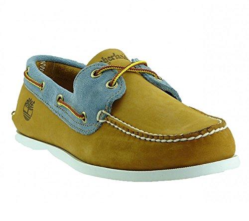 Timberland 6503A Brig 2 Eye Mens Boat Shoes Wheat EU 43.5, UK 9