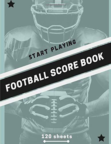 Football Score Book: Let's play football (120 sheets)