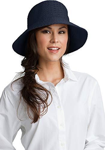 Coolibar UPF 50+ Women's Marina Sun Hat - Sun Protective,One Size,Navy