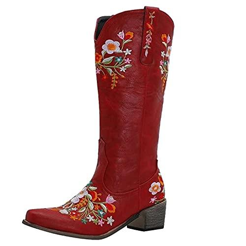 Geilisungren Overknee Stiefel Flacher Absatz Damen Stiefeletten Lässige Warme Gefüttert Langschaft Boots Reitstiefel Niedrige Stiefel Beiläufige Schnalle Winterschuhe Reißverschluss Schuhe