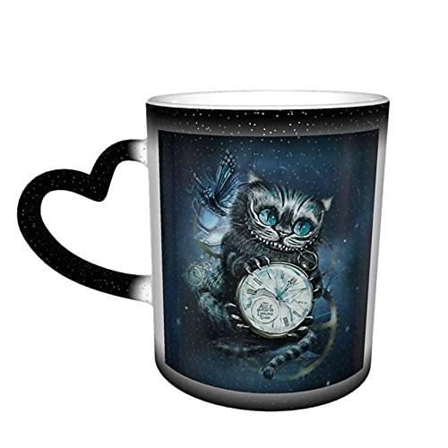 Alice im Wunderland Grinsekatze Kaffeetasse Keramik Teetassen Farbwechsel Neuheit Familie Liebhaber Freunde Büro und Zuhause Gesundheit Geschenk
