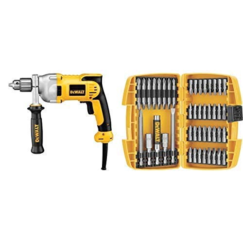 DEWALT DWD210G 10-Amp 1/2-Inch Pistol-Grip Drill with DEWALT DW2166 45 Piece Screwdriving Set with Tough Case
