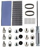 CO-RODE 6 Sets M.2 Screws Standoffs NVMe SSD Screw Kit with Heatsinks Cooler, Screwdriver for Asus Motherboard