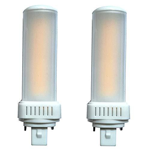 Bombilla LED G24d PL, 4000 K, 8 W, repuesto Osram G24d-2 DULUX, repuesto Philips Master PL-C de 2 pines [Clase energética A+] – 2 unidades