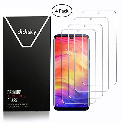 Didisky Pellicola Protettiva in Vetro Temperato per Xiaomi Redmi Note 7 / Note 7 PRO, [4 Pezzi] Protezione Schermo [Tocco Morbido ] Facile da Pulire, Facile da installare, Trasparente