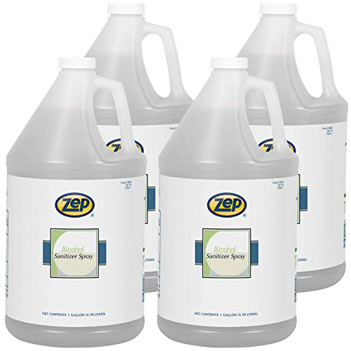 Zep Alcohol Hand Sanitizer Liquid Refill (1 Gallon Case of 4) - Refill for Spray Dispensers Made in USA (90024)