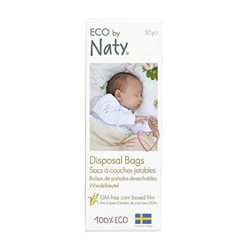 Eco by Naty, Ökologische Windelbeutel, 1 Beutel (1 x 50 Stück), 100% Kompostierbar