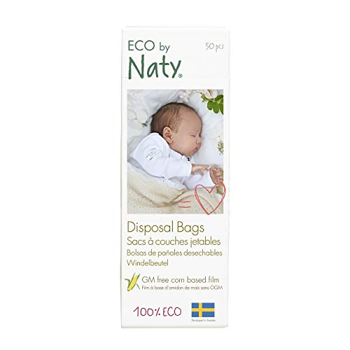 Eco by Naty, Eco Sacchetti per Rifiuti monouso, 150 pezzi (3x50 sacchetti) 100% compostabile.