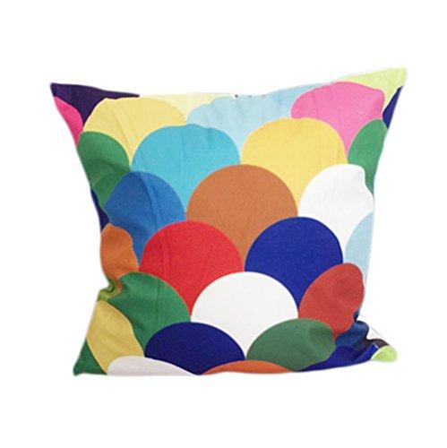 Vi.yo taie d'oreiller couverture de coussin de flanelle coloré pour canapé de bureau de chaise de bureau (style 7)