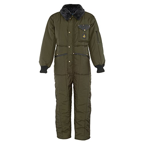 RefrigiWear Men's Iron-Tuff Insulated Coveralls -50F Extreme Cold Suit (Sage Green, Medium)