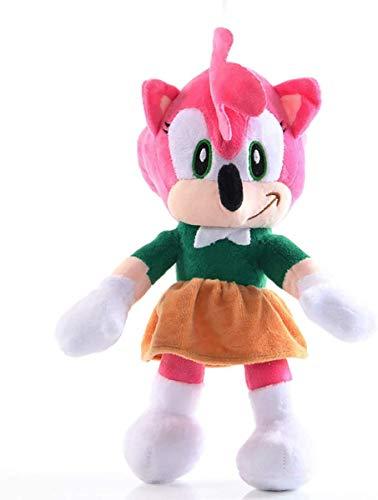 "Sonic Plush 11"" Amy Rose Hedgehog Toy - Classic Hedgehog Plush Doll - Amy Plush Figure - Children"