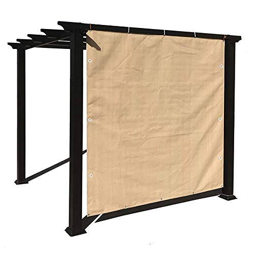 Home Pergola Shade Cover Sunblock Patio Canopy, Rectangle Permeable Cloth with Grommets, 1/2/3/4/5/6 m Width (Size : 2X5m)
