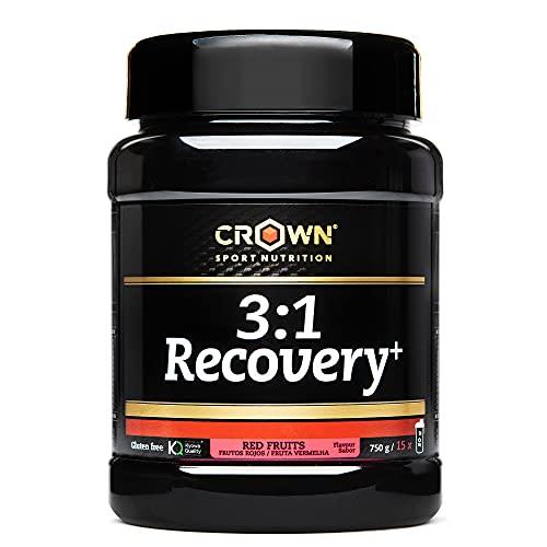 Crown Sport Nutrition Recuperador muscular - 3:1 Recovery + con Aislado de Proteína Whey - Post workout fast recovery drink running ciclismo endurance entreno recuperadores musculares